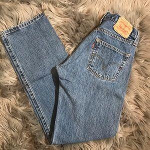 Vintage Levi's 501 High Rise Straight Leg Jeans